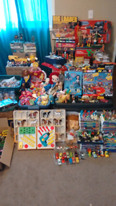Huge mixed lot of old toys...60's - 90's... Boys and girls