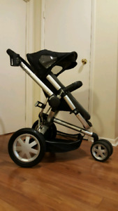 QUINNY BUZZ STROLLER, BASSINET AND WEATHER SHIELD
