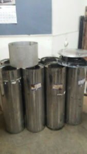 Stainless steel flue for wood or oil