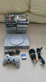Sony PS1 + control & over 40 games