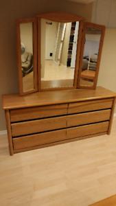 Palliser double dresser with mirror