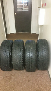 4winter tires on rims & rubber floor mats for Pilot 2011 to 2015