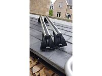 Original BMW Roof Rack with Roof mounted Bike carrier