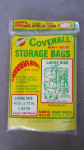 "Large Heavy Weight Storage Bags  40"" x 77"" (Unopened 4-pack)"