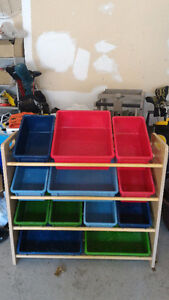 Toy Shelving and Organizer with Bins