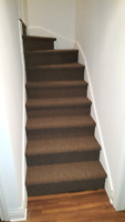 Installation de tapis pour escaliers. Carpet installtaion