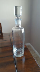 New Tall Glass Decanter with Lid