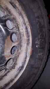 Winter tires. 4 bolt. 195 60 15. 4x100 bolt pattern.   Cambridge Kitchener Area image 3