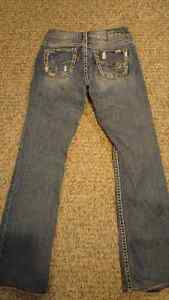 """Francis 17"""" silver jeans size 28/34 London Ontario image 2"""