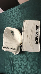 Bauer Reactor 7000 Goalie Trapper and Blocker