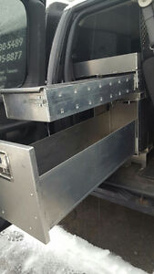 BEHIND THE SEAT TOOL BOX FOR VAN OR PICK UP