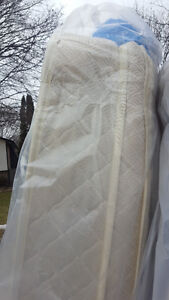 SINGLE SIZE pillow top mattress and box  spring  150.00