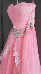 Pink wedding dress / evening gown