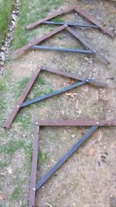 Four 24 inch heavy duty  shelving brackets
