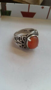 Silver Ring stamped 925 with Stone