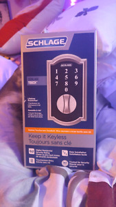 REDUCED*SCHLAGE KEYLESS TOUCHSCREEN DEADBOLT!