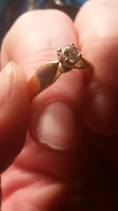 Engagement ring 24K gold