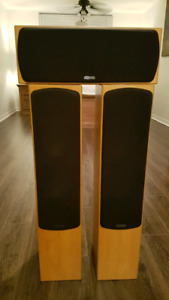 Monitor Audio speakers set. RX6 silver series.