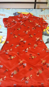 Chinese styled red dress