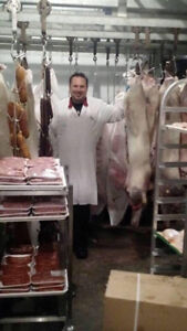Boucherie orignal chevreuil ours et animaux de fermette