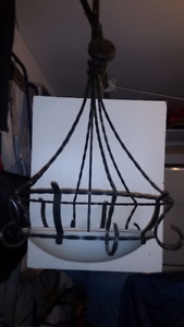 BEAUTIFUL WROUTH IRON LIGHT FIXTURE