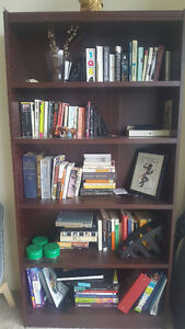 MOVING:::::: Tall and Wide Wood Bookcase
