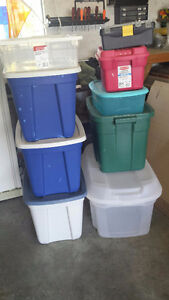 Plastic totes and Toolbox