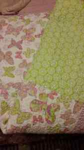 Girls Quilt and pillow sham for single bed