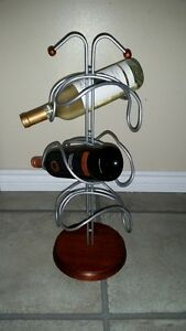 6 Bottle wine rack table center piece