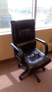 Leather Office Executive Chair with Wheels