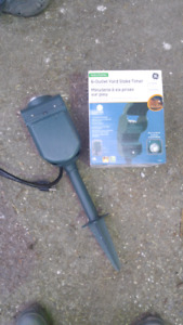 6-outlet outdoor stake timer