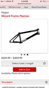 Fully custom bmx over $1200 to build it