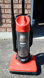 A bagless vacuum in good working condition