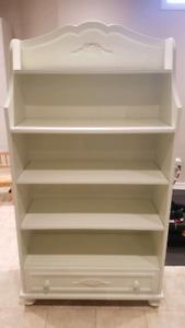 White Floral Book Shelf