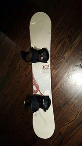 K2 Luna Snowboard & Burton bindings and Boots