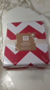 New Pottery Barn PB Teen Blackout Drapes Chevron - in packaging