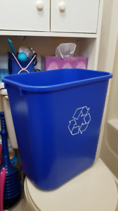 RECYCLEABLE & GARBAGE USED TRASH CANS & ADD ONs