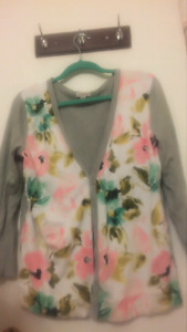 Spring/ summer floral cardigan sweater top