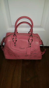 AUTHENTIC COACH ASHLEY LASER CUT LEATHER SATCHEL