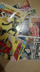 #1 issue comic books MARVEL and DC superman ghost rider flash ec