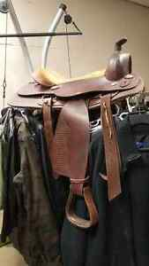 New Price (Reduced to $120. 00) FOR 16inch ALL LEATHER SADDLE  B Belleville Belleville Area image 2