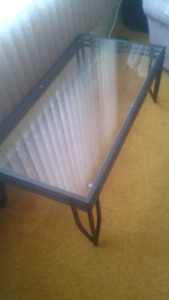 Glass topped coffee table for sale