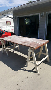 Table.  Solid Wood 87 long 37 wide