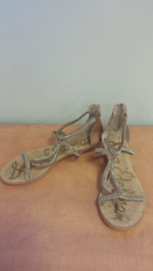 SEXY SANDALS SIZE 7.5 BNWT Sam Edelman Sandals Brown and Gold