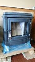 Oil stove-fireplace