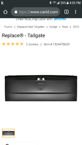 Wanted a tailgate for a black 2013 ram sport