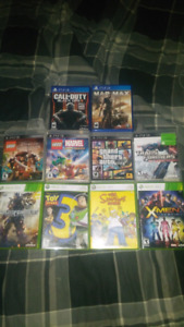 X-Box 360, PS3, PS4 games for sale!