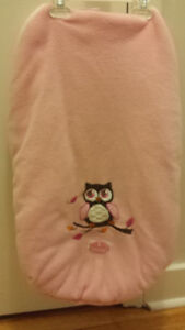 Pink, Owl, Warm Car Seat/Stroller Cover