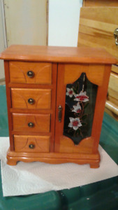 girls oak jewelry cabinet