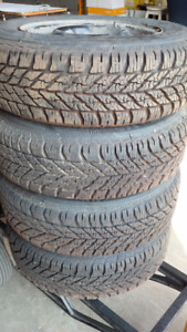 Goodyear Snow Tires with Rims